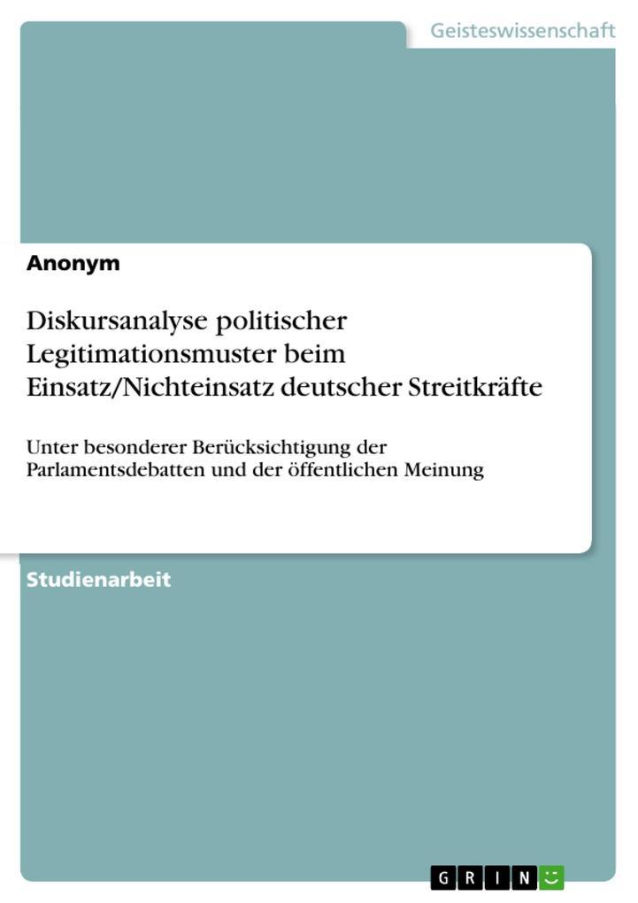Diskursanalyse politischer Legitimationsmuster ...
