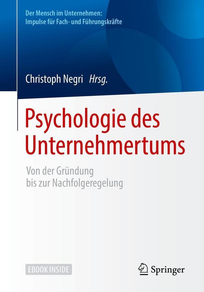 Psychologie des Unternehmertums als eBook Downl...