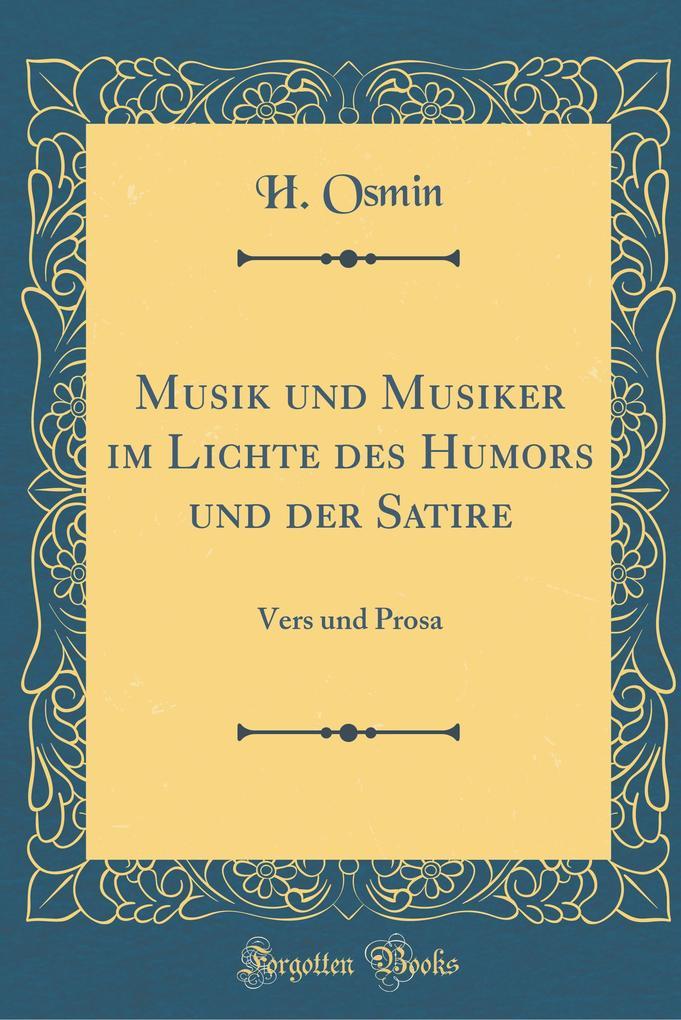 Musik und Musiker im Lichte des Humors und der ...