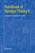 Handbook of Number Theory II