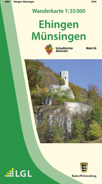 Karte des Schwäbischen Albvereins 26 Ehingen - ...