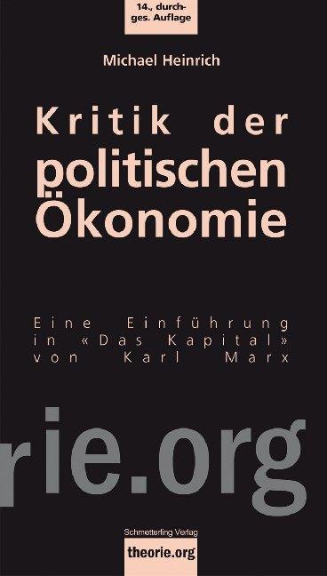 Kritik der politischen Ökonomie als Buch