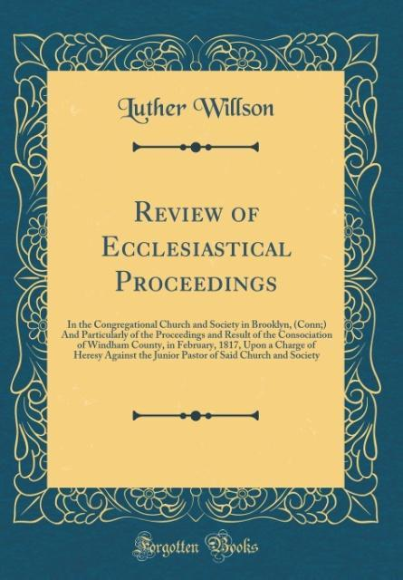 Review of Ecclesiastical Proceedings als Buch v...