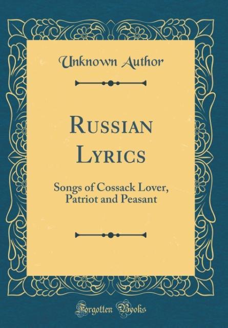 Russian Lyrics als Buch von Unknown Author