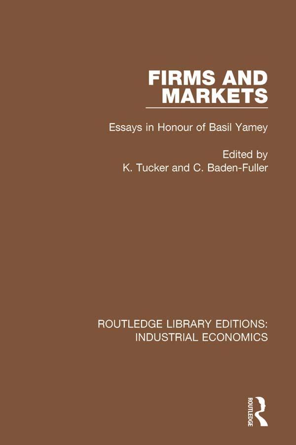 Firms and Markets als eBook Download von