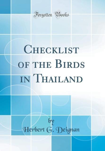 Checklist of the Birds in Thailand (Classic Rep...