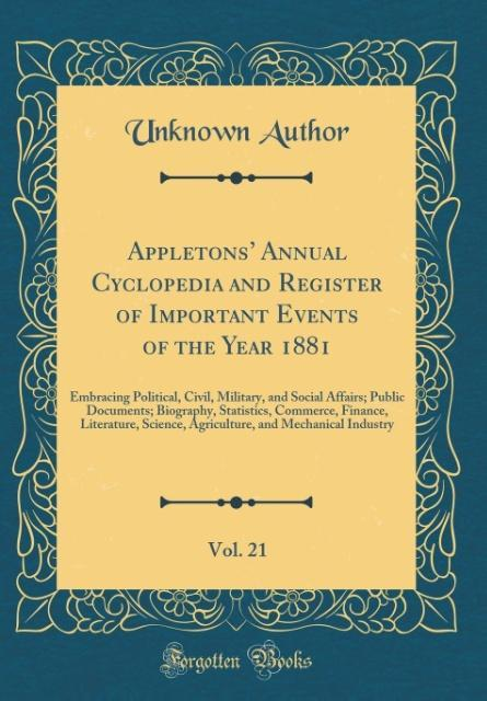 Appletons´ Annual Cyclopedia and Register of Im...