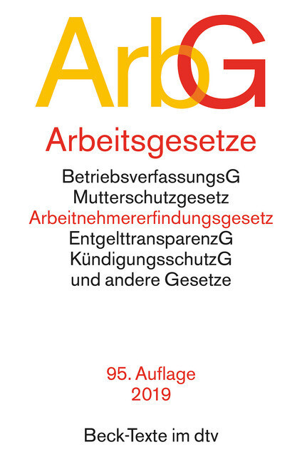 Arbeitsgesetze (ArbG) als Taschenbuch