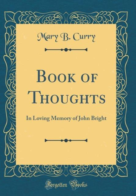 Book of Thoughts als Buch von Mary B. Curry