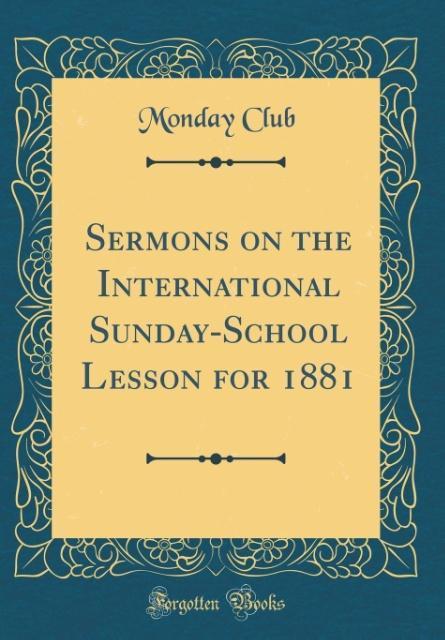 Sermons on the International Sunday-School Less...
