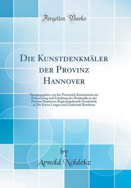 Die Kunstdenkmäler der Provinz Hannover als Buc...