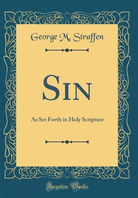 Sin als Buch von George M. Straffen