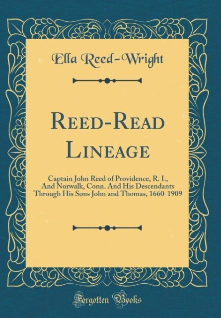 Reed-Read Lineage als Buch von Ella Reed-Wright