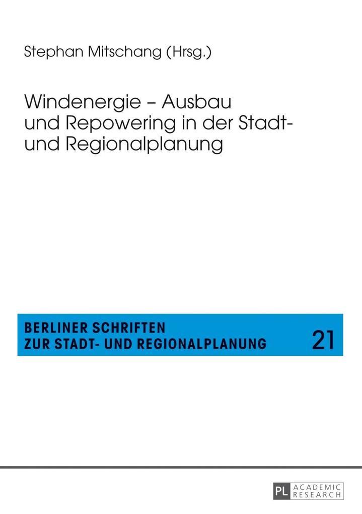 Windenergie - Ausbau und Repowering in der Stad...