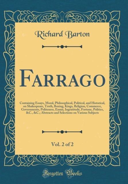 Farrago, Vol. 2 of 2 als Buch von Richard Barton