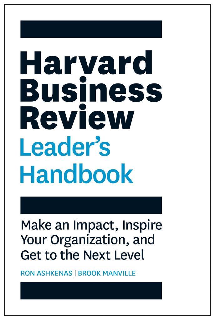 The Harvard Business Review Leader's Handbook als Buch (gebunden)