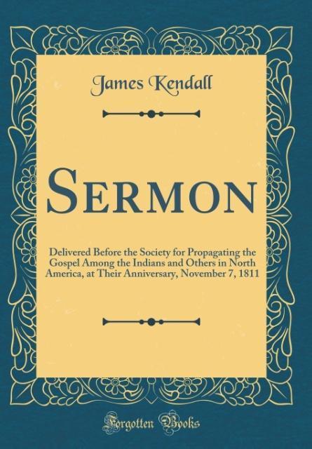 Sermon als Buch von James Kendall