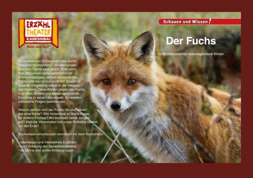 Kamishibai: Der Fuchs als Buch von