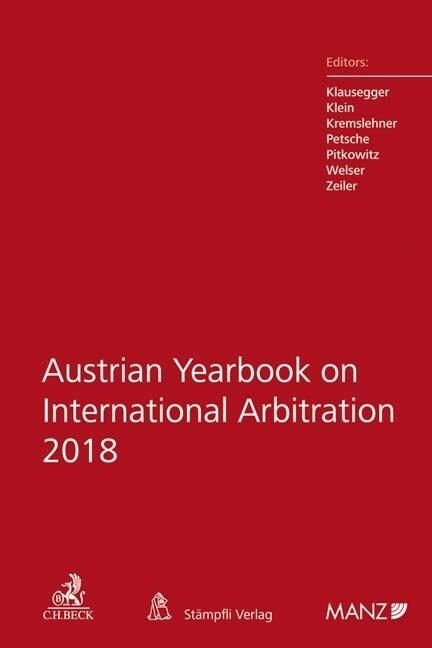 Austrian Yearbook on International Arbitration ...