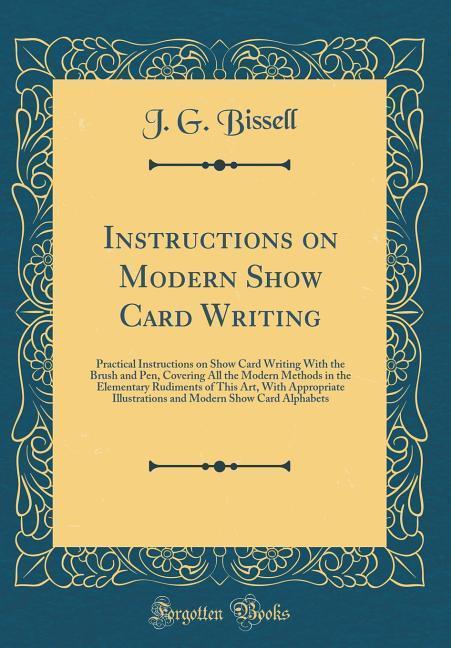 Instructions on Modern Show Card Writing als Bu...
