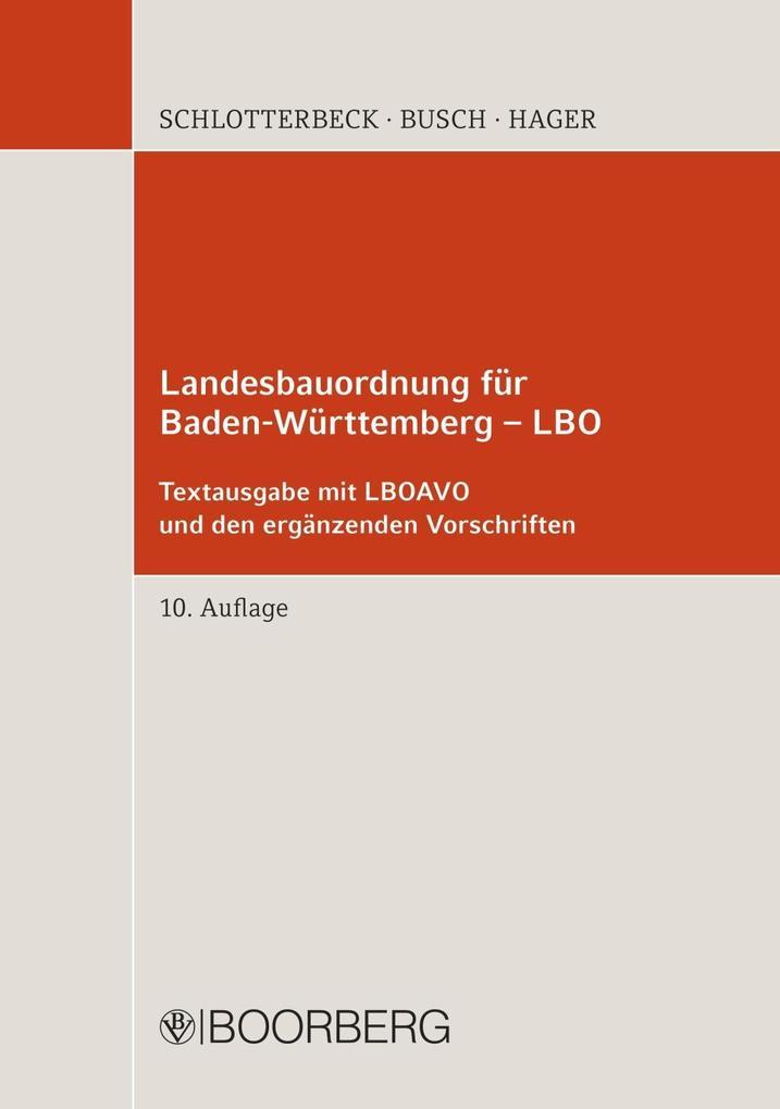 Landesbauordnung für Baden-Württemberg - LBO al...