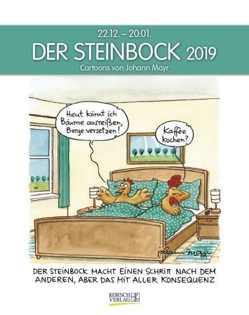 der steinbock 2019 sternzeichen cartoonkalender kalender. Black Bedroom Furniture Sets. Home Design Ideas