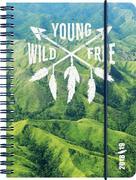 Brunnen Schülerkalender 2018/2019 Young Wild Free, 18 Monate
