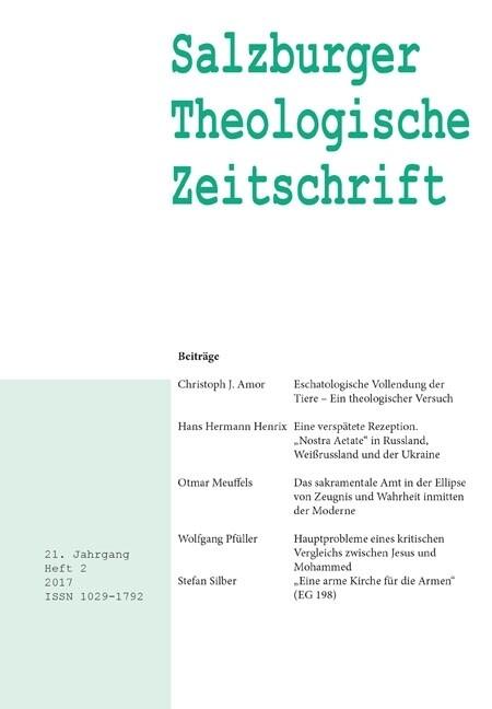 Salzburger Theologische Zeitschrift. 21. Jahrga...