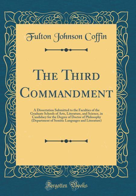 The Third Commandment als Buch von Fulton Johns...