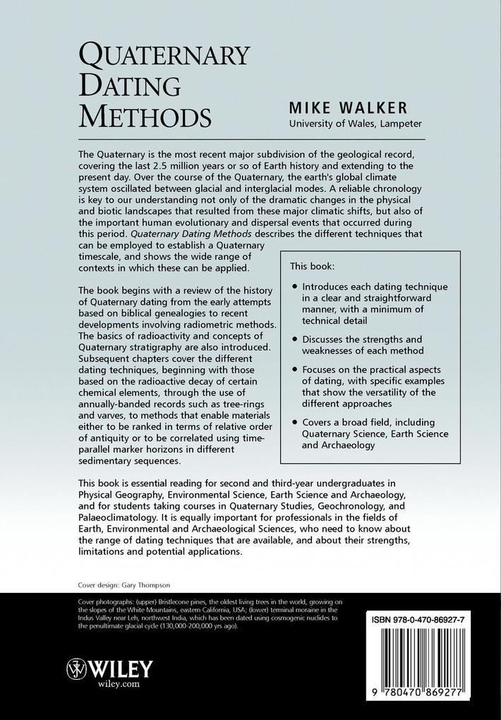Quaternary Dating Methods als Buch von Walker