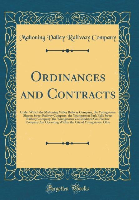 Ordinances and Contracts als Buch von Mahoning ...