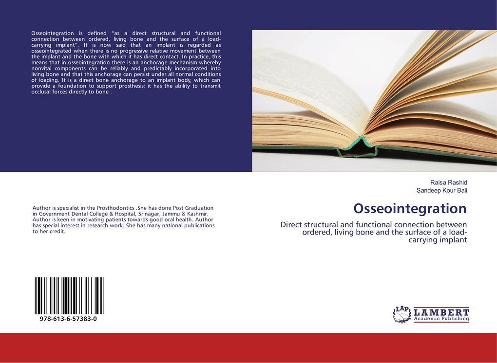 Osseointegration als Buch von Raisa Rashid, San...