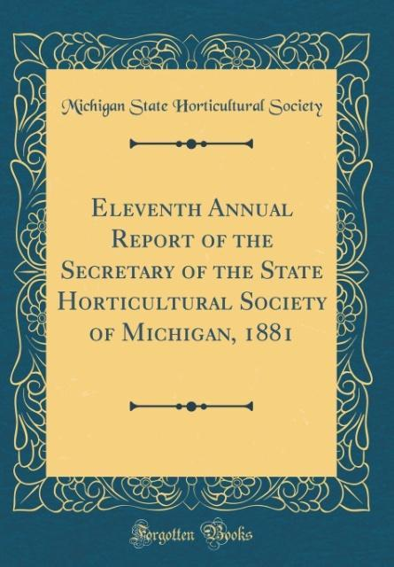 Eleventh Annual Report of the Secretary of the ...