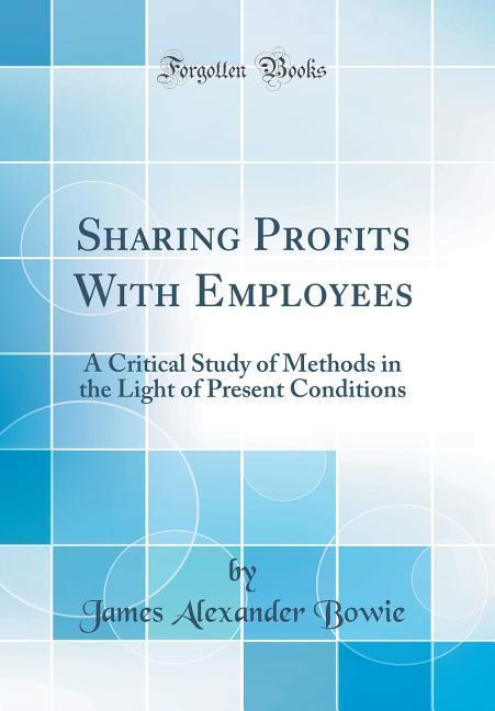 Sharing Profits With Employees als Buch von Jam...