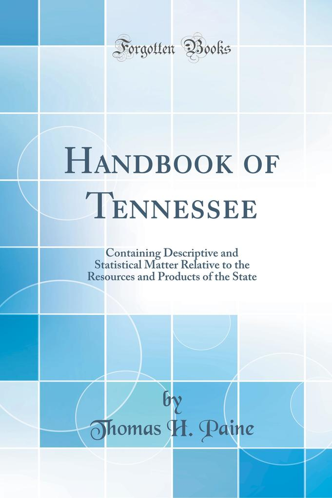 Handbook of Tennessee als Buch von Thomas H. Paine - Thomas H. Paine