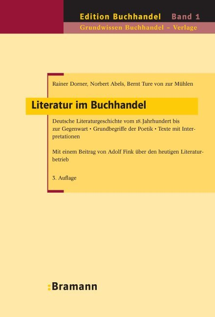 Literatur im Buchhandel als Buch von Rainer Dor...