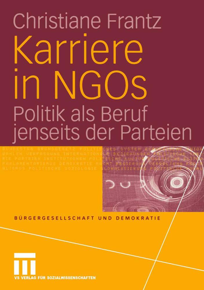 Karriere in NGOs als Buch von Christiane Frantz