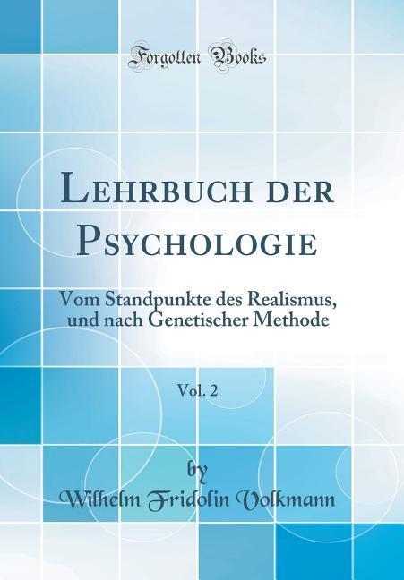 Lehrbuch der Psychologie, Vol. 2 als Buch von W...