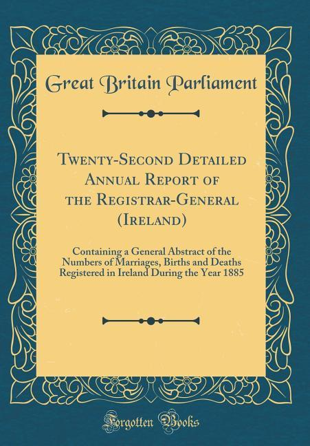 Twenty-Second Detailed Annual Report of the Reg...