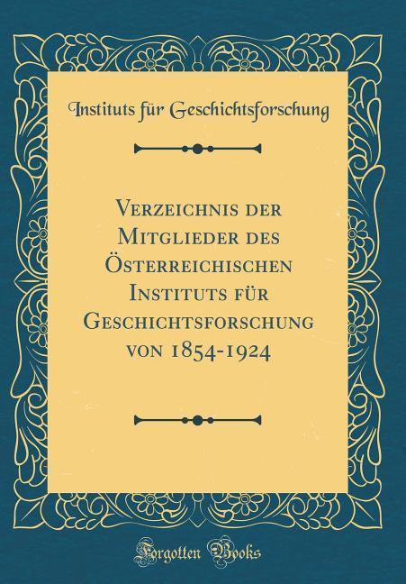 Verzeichnis der Mitglieder des Österreichischen...