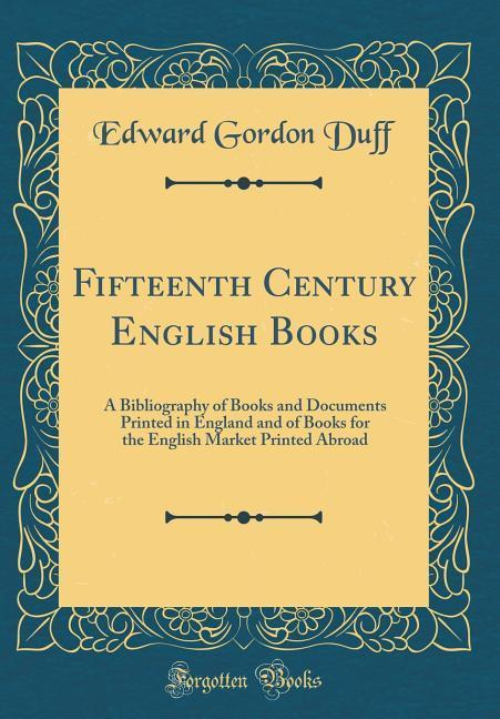 Fifteenth Century English Books als Buch von Ed...
