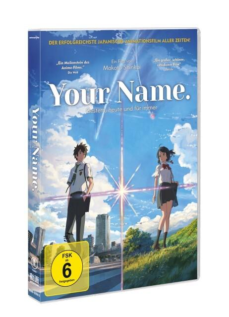 Your Name - Gestern, heute und für immer als DVD
