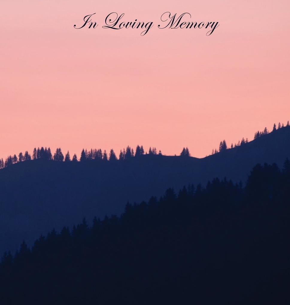 In Loving Memory Funeral Guest Book, Wake, Loss...
