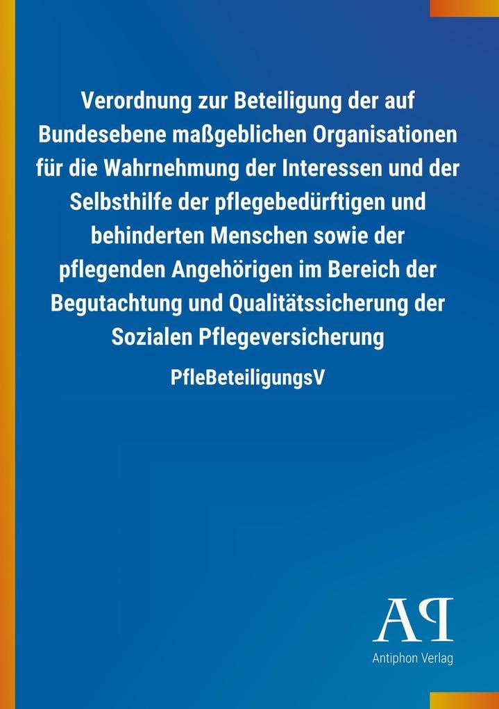 Verordnung zur Beteiligung der auf Bundesebene ...