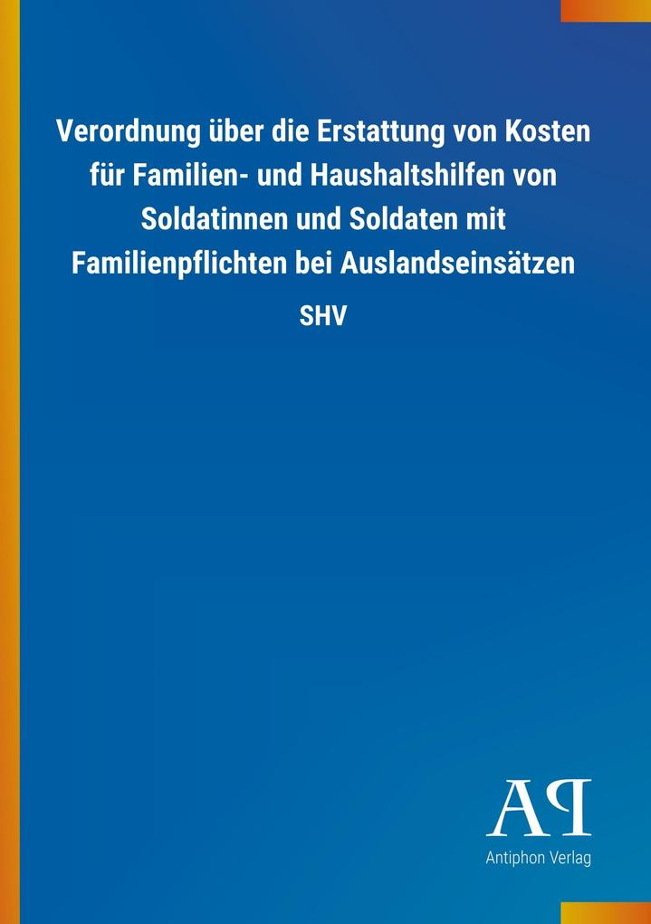 Verordnung über die Erstattung von Kosten für F...