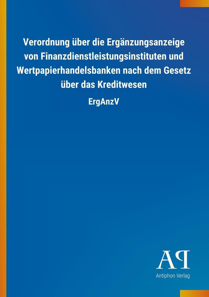 Verordnung über die Ergänzungsanzeige von Finan...
