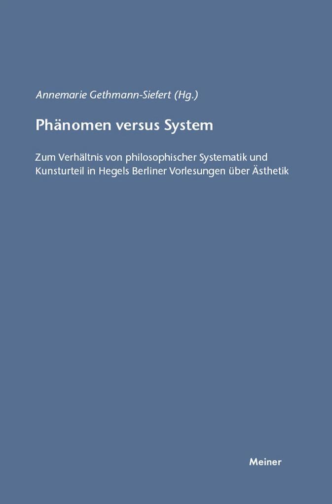 Phänomen versus System als eBook Download von
