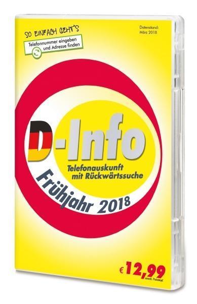 D-Info mit Rückwärtssuche Frühjahr 2018. Für Wi...