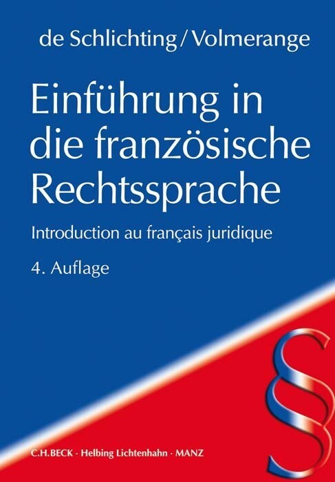 Einführung in die französische Rechtssprache als Buch