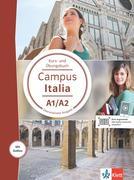 Campus Italia A1/A2. Kurs- und Übungsbuch mit Audios für Smartphone/Tablet
